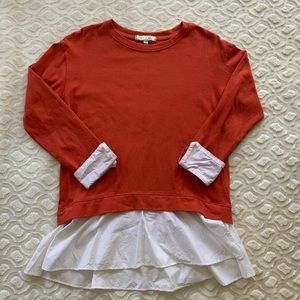 Anthropologie Eri +Ali Pullover Sweater With Cuffs